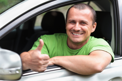 Man happy about finding the best portland auto insurance