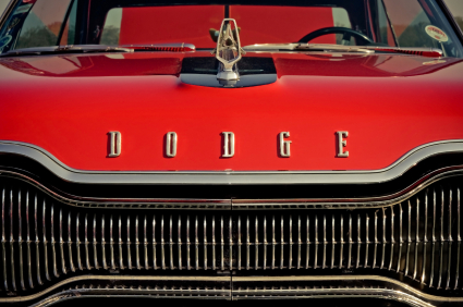 Vintage Red Dodge Automobile Portland Auto Insurance